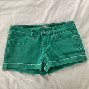 Forever 21 green jean shorts size 24